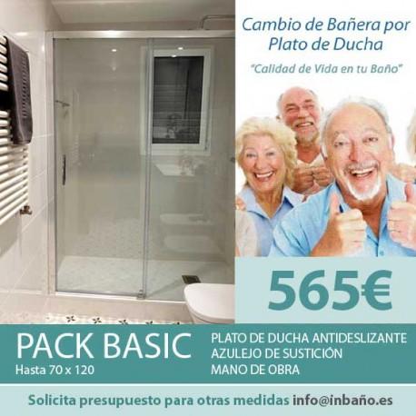 PACK BASIC: CAMBIO DE BAÑERA POR PLATO DE DUCHA